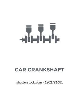 car crankshaft icon. car crankshaft design concept from Car parts collection. Simple element vector illustration on white background.