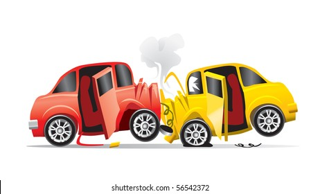 cartoon car crash images stock photos vectors shutterstock rh shutterstock com cartoon car crash sound effect cartoon car crashing