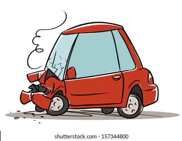 cartoon car crash images stock photos vectors shutterstock rh shutterstock com cartoon car crash sound effects cartoon car crash pictures