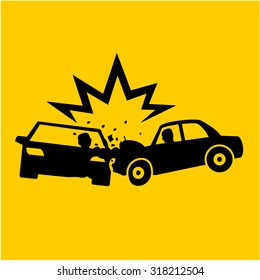 Car Crash icons vectors