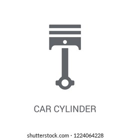 car cylinder icon. Trendy car cylinder logo concept on white background from car parts collection. Suitable for use on web apps, mobile apps and print media.