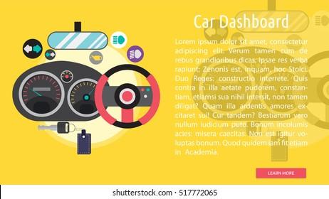 Car Dashboard Conceptual Banner