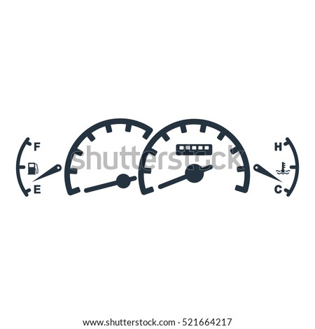 Car Dashboard Panel Isolated Icon On Stock Vector Royalty Free Diagram White Background Auto Service Repair Detail