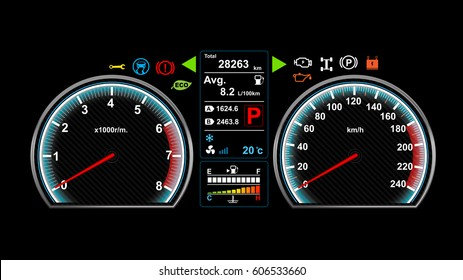 Car dashboard vector illustration eps 10