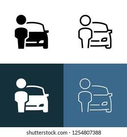 Car Dealer Icon Set