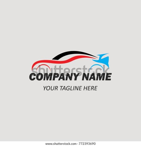 Car Dealer Logo Template Emblem Concept Stock Vector Royalty Free