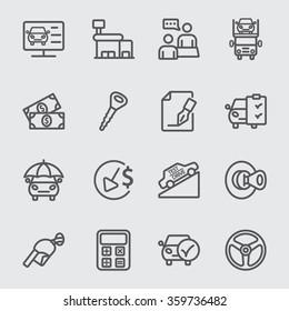 Car dealerships line icon