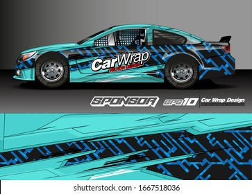 car decal design vector. abstract background for vehicle vinyl wrap