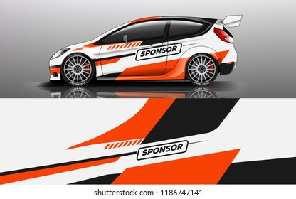 Car decal graphic vector,racing car. Graphic abstract stripe designs for racing car