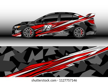 Car decal, truck and cargo van wrap vector, Graphic abstract stripe designs for branding and livery vehicle