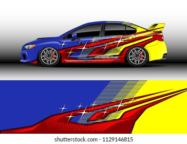 Car decal, truck and cargo van wrap vector. Graphic abstract stripe designs for branding and drift livery car