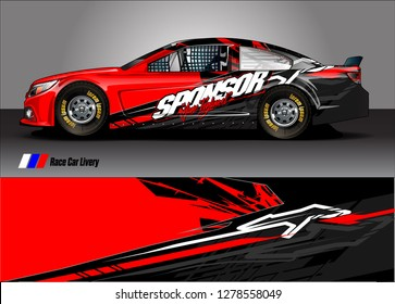Car decal, truck and cargo van wrap design vector. Modern abstract background for car branding and vehicle livery