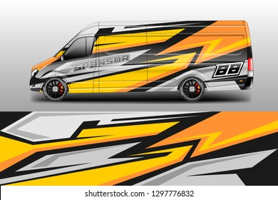 Car decal van designs . Wrap designs vector .