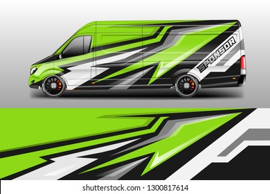 Car decal van designs . Wrap designs vector . Cargo van decal, truck and car wrap vector .