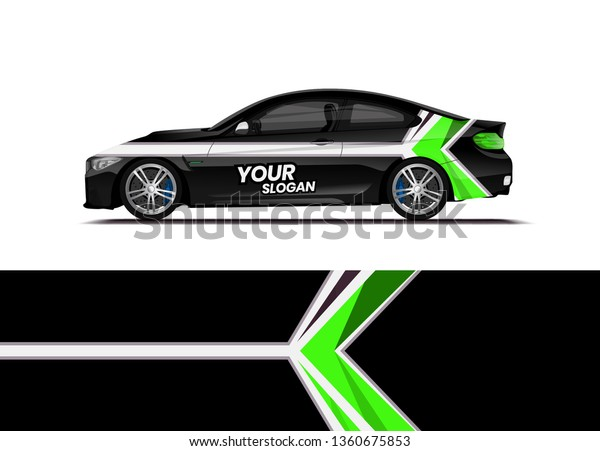 Car Decal Wrap Design Template Vector Stock Vector (Royalty