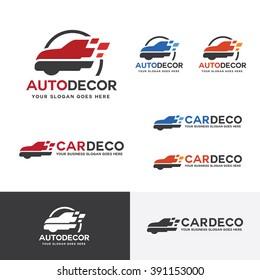 Car Decoration Logo, Automobile Body Paint Brand Identity