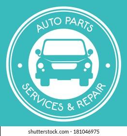 car design over blue background vector illustration