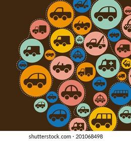 car design over brown background vector illustration