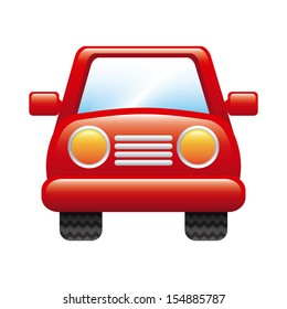car design over white background vector illustration