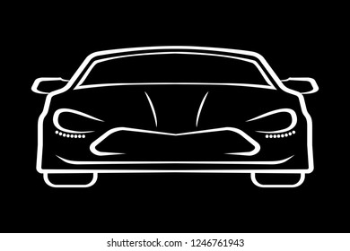 Car design silhouettes – vector