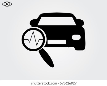 car diagnostics, icon, vector illustration eps10