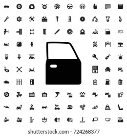 Car door icon. set of filled car service icons.