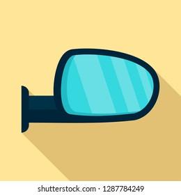 Car door mirror icon. Flat illustration of car door mirror vector icon for web design
