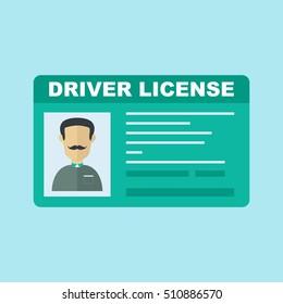 Car driver license icon