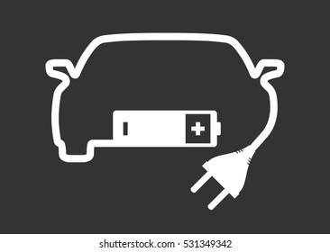 Car electric pictogram
