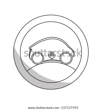 Car Electric Plug Icon Over White Stock Vector Royalty Free