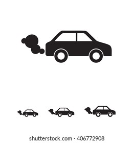 smoke from car clipart black and white - Clip Art Library