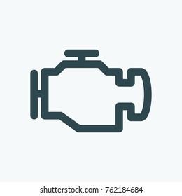 Car engine icon, motor vector icon
