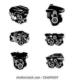 Car Engine Icons vector.
