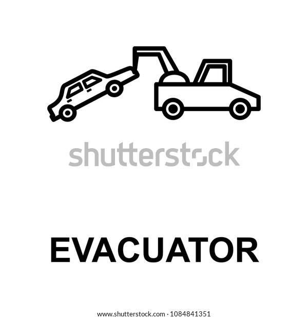 car in evacuator icon. Element of car repair for mobile concept and web apps. Detailed  icon can be used for web and mobile. Premium icon on white background