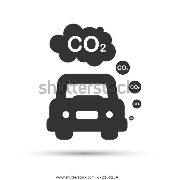 Car Exhaust Co2 Smoke Stock Vector Royalty Free 672185254