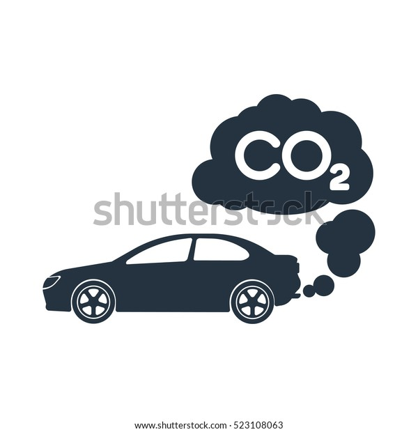 Car Exhaust Co2 Smoke Isolated Icon Stock Vector Royalty Free