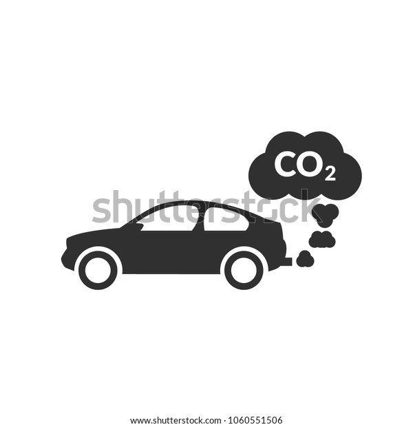 Car Exhaust Icon Car Icon Co2 Stock Vector Royalty Free 1060551506