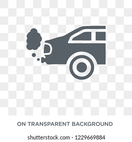 car exhaust icon. car exhaust design concept from Car parts collection. Simple element vector illustration on transparent background.