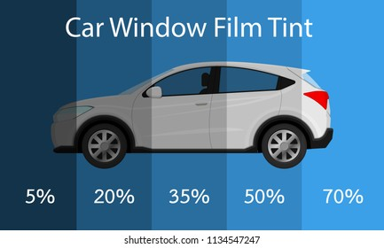 Car film tint percent UV block automobile safe danger