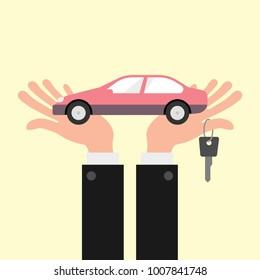 Car finance concept illustration