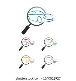 car finder logo  design vector, emblem, design concept, creative symbol