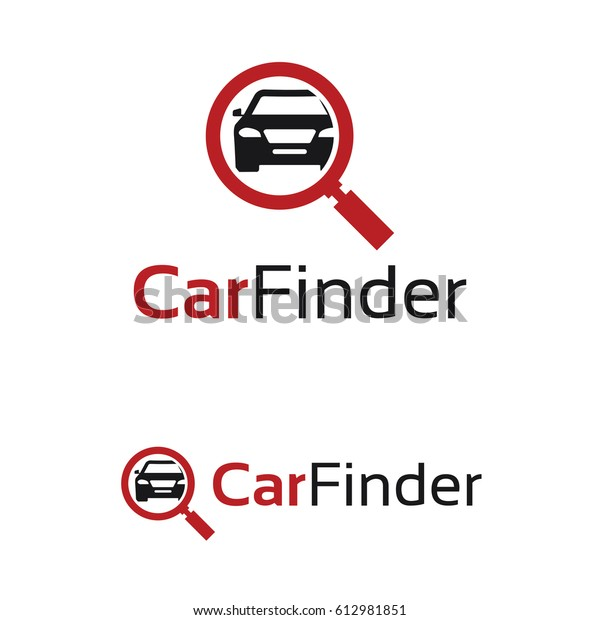 Car Finder Logo Template Design Stock Vector Royalty Free 612981851