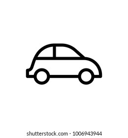 Car flat icon. Single high quality outline symbol of info for web design or mobile app. Thin line signs of chat for design logo, visit card, etc. Outline logo of transport.