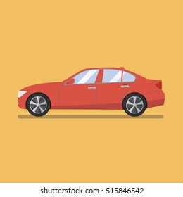 Car flat icon. Flat style vector illustration