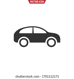 Car flat icon. Vector illustration isolated on a white background.