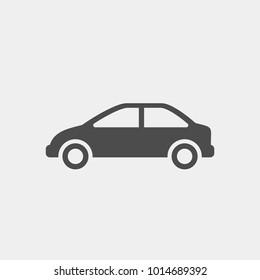 Car flat vector icon