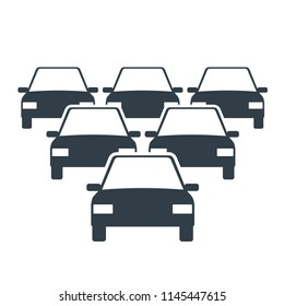 Car Fleet icon. Clipart image isolated on white background