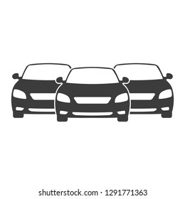 Car Fleet icon. Clipart image isolated on white background