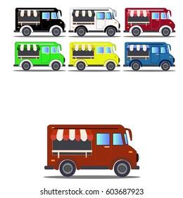 Car Food Truck Vector
