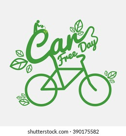 Car Free Day Concept Vector Illustration